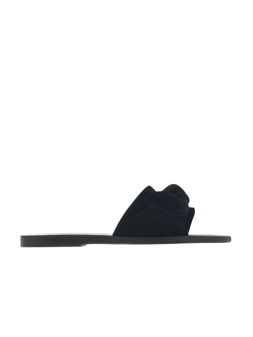 TAYGETE BLACK BOW SANDALS