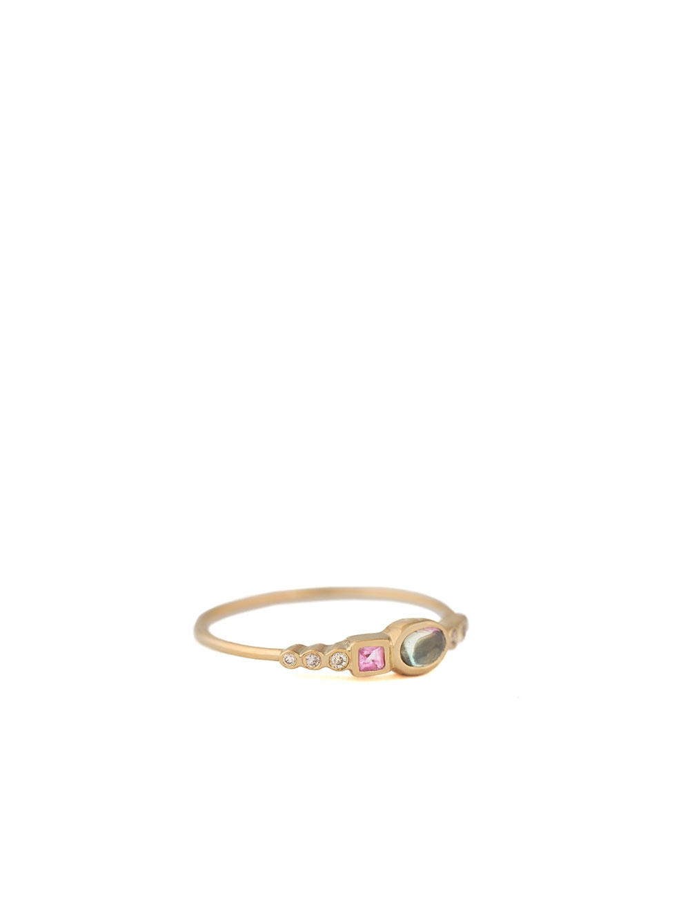 BAGUE TOURMALINES ET DIAMANTS