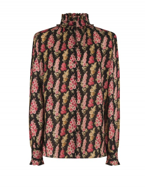 GEORGETTE FRILL COLLAR BLOUSE