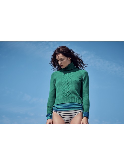 PULL COL ROULE COURT TORSADE