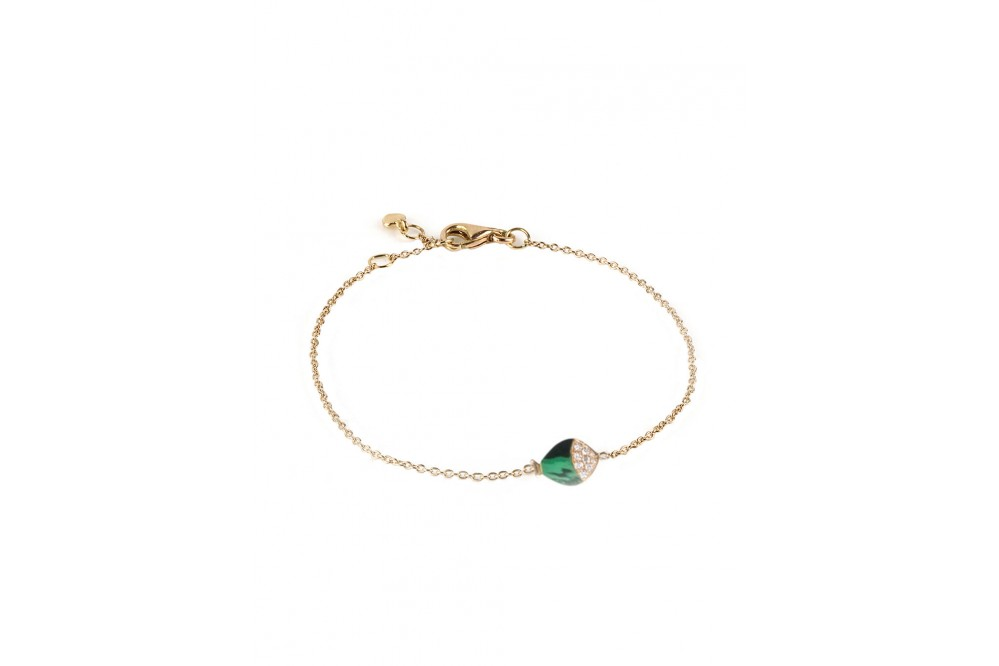 BRACELET MINI POISSON MALACHITE