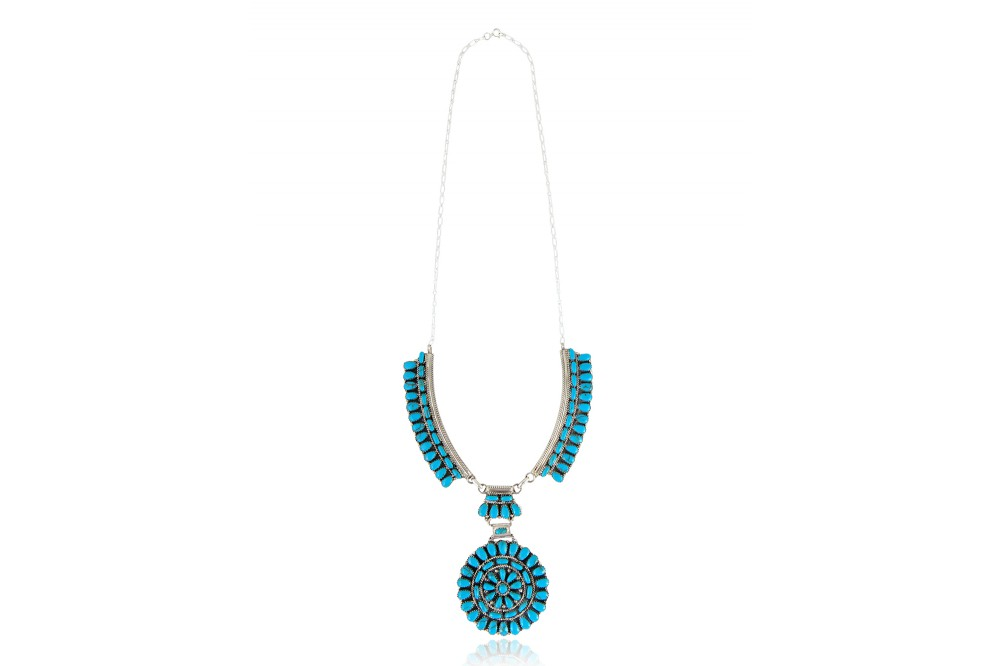 COLLIER ROSACE TURQUOISE