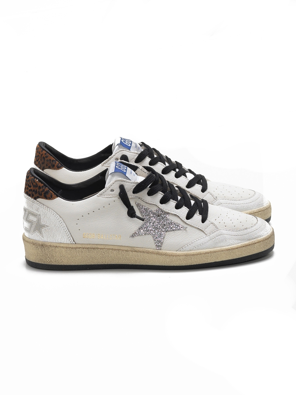 Ball Star sneakers: white leather