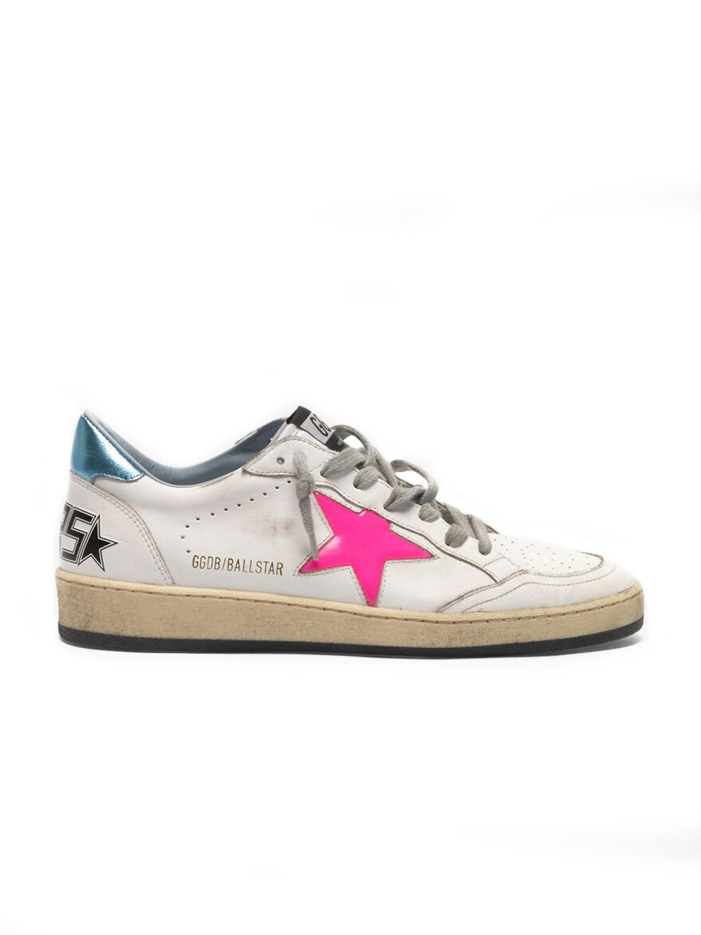 Sneakers Ball Star blanches lacets gris