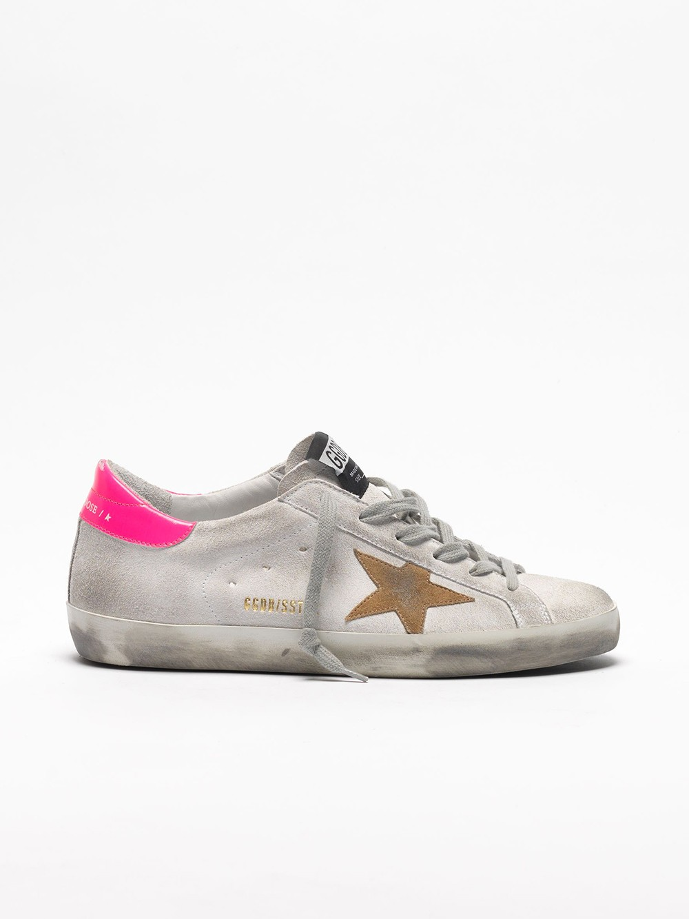 Sneakers Superstar cuir blanches rose flux | Golden Goose | BY MARIE