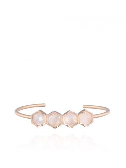 ROSE GOLD AND MOONSTONE BANGLE
