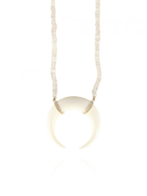 LARGE DOUBLE HORN NECKLACE