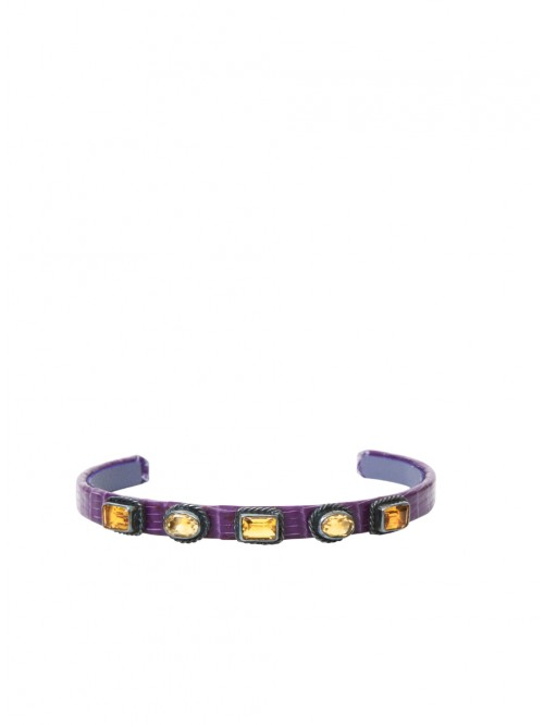 PURPLE AND CITRINE LIZARD BRACELET