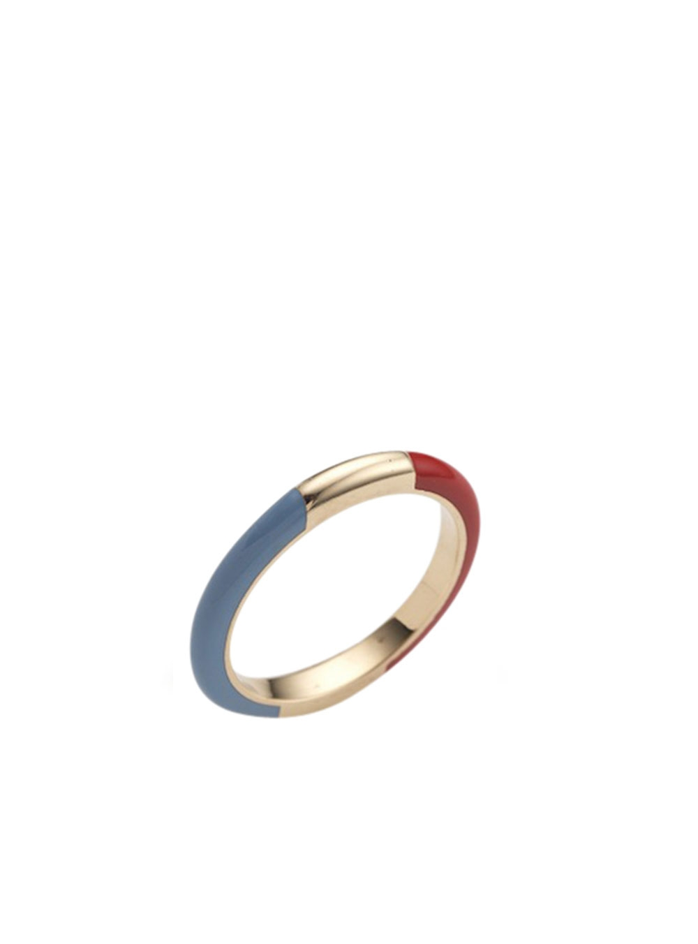 BAGUE CANDY LACQUER 14K OR BLANC