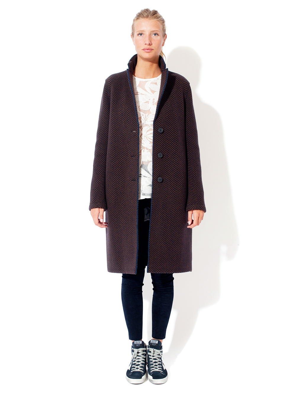 MANTEAU HEAVY HERRINGBONE