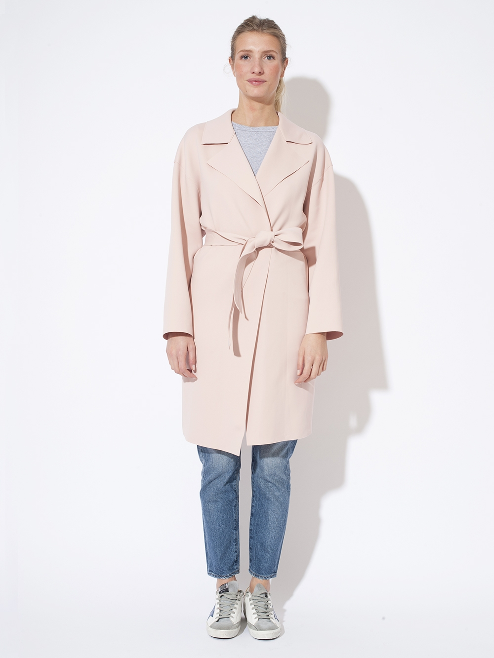 MANTEAU DROPPED SHOULDER BELT