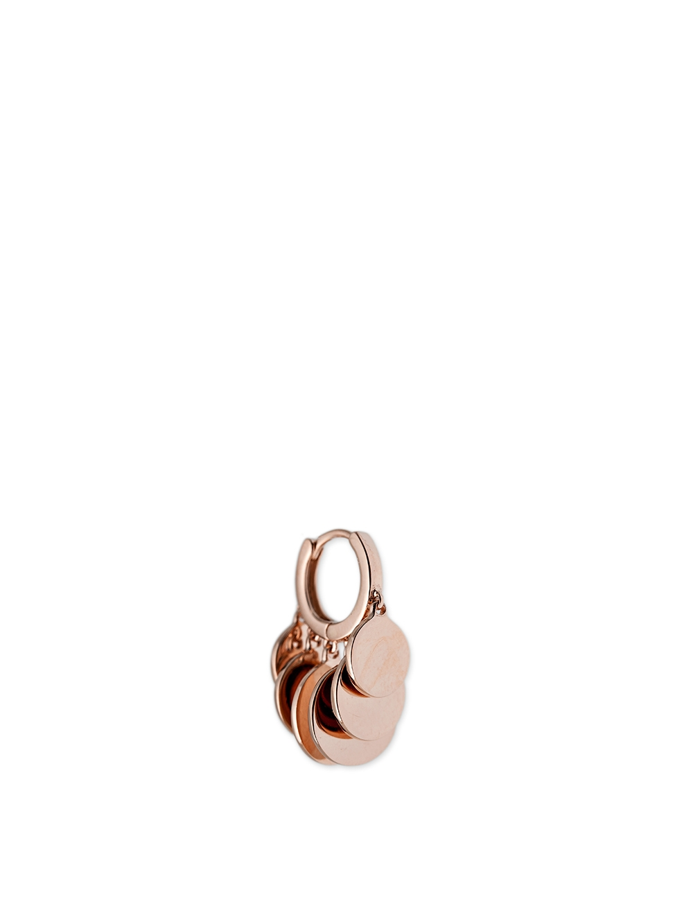 PAIRE BO DISCO LARGE OR ROSE