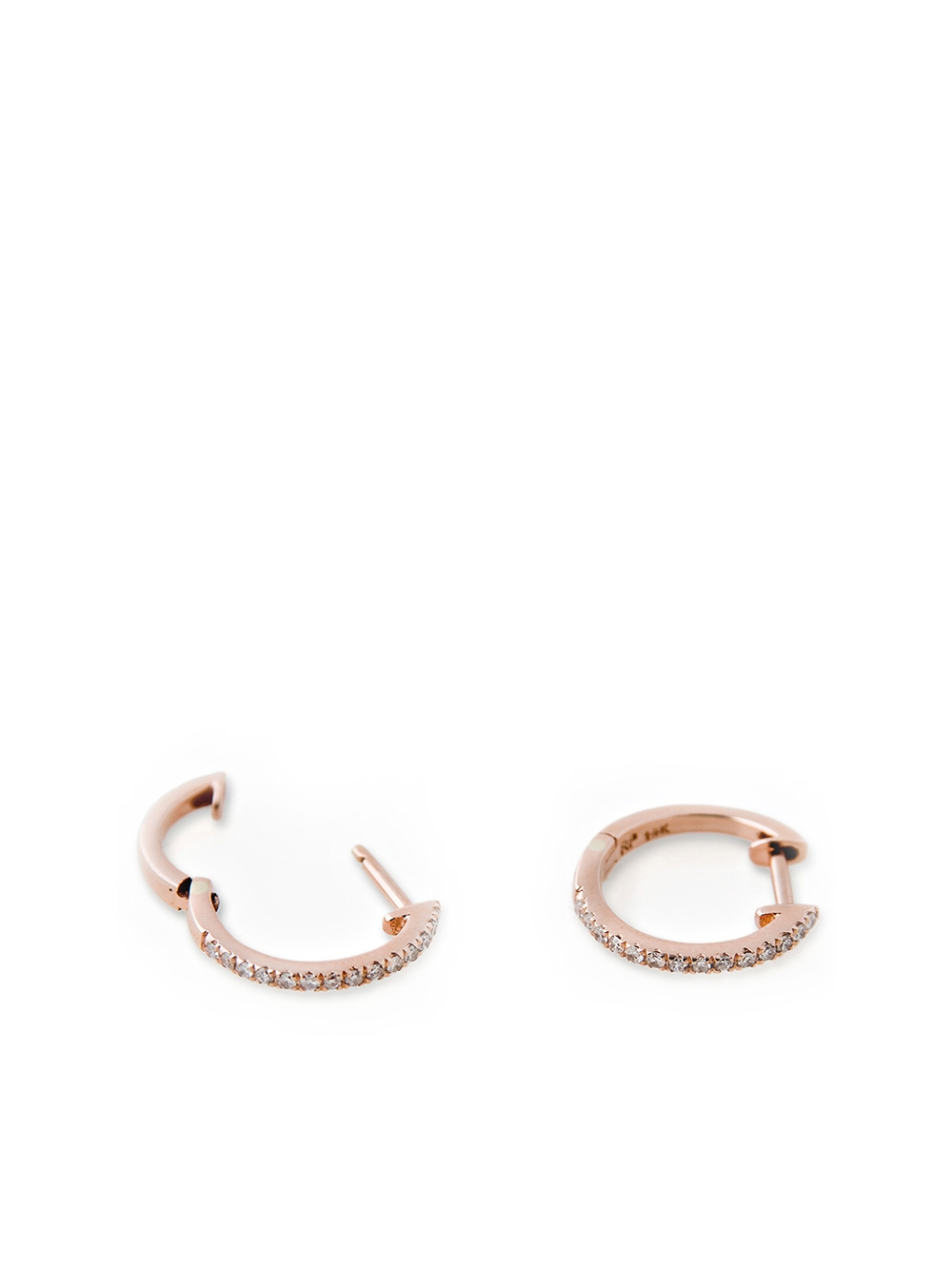 PAIRE  BO MINI HOOP PAVE  ROSE