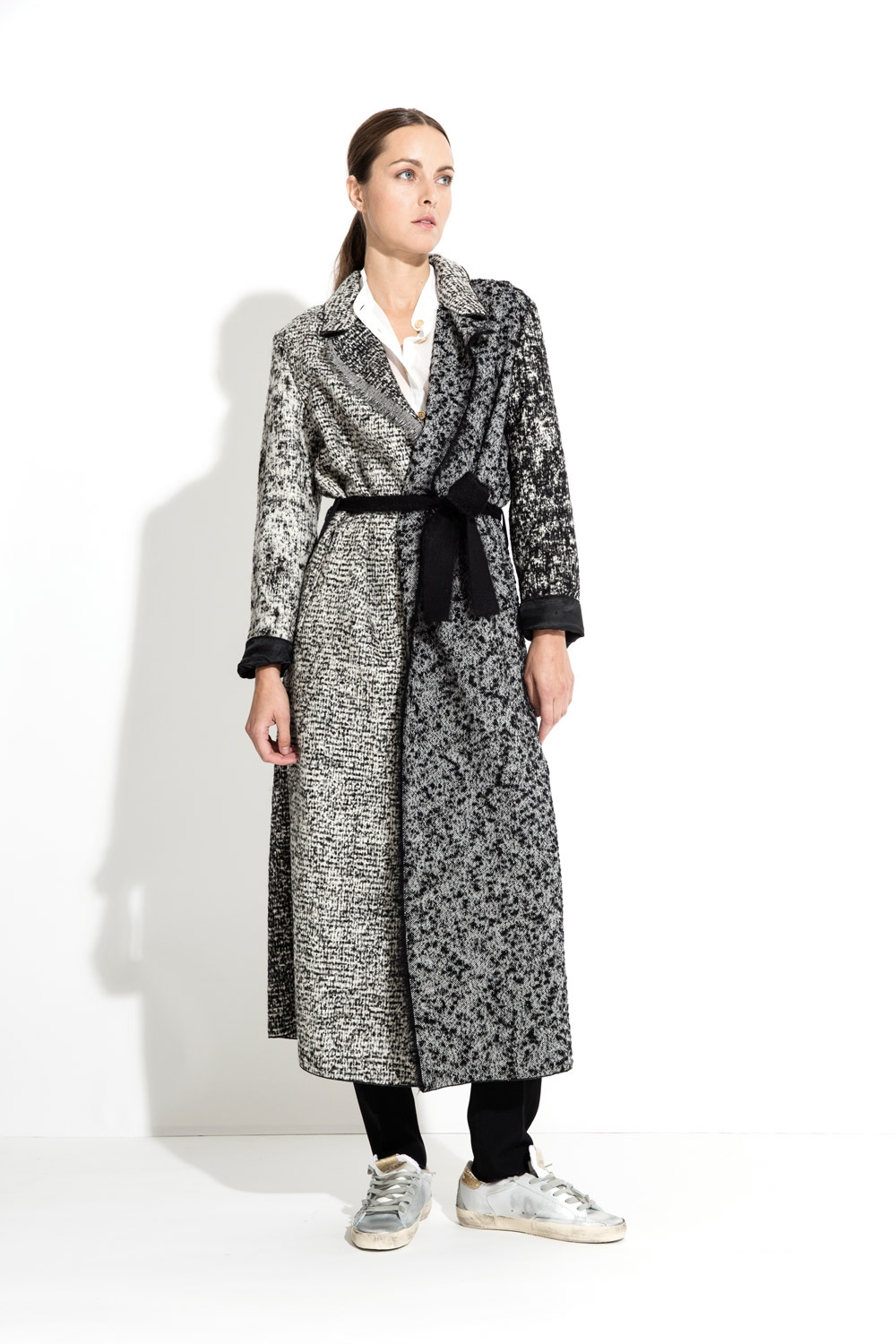 MANTEAU LONG JACQUARD