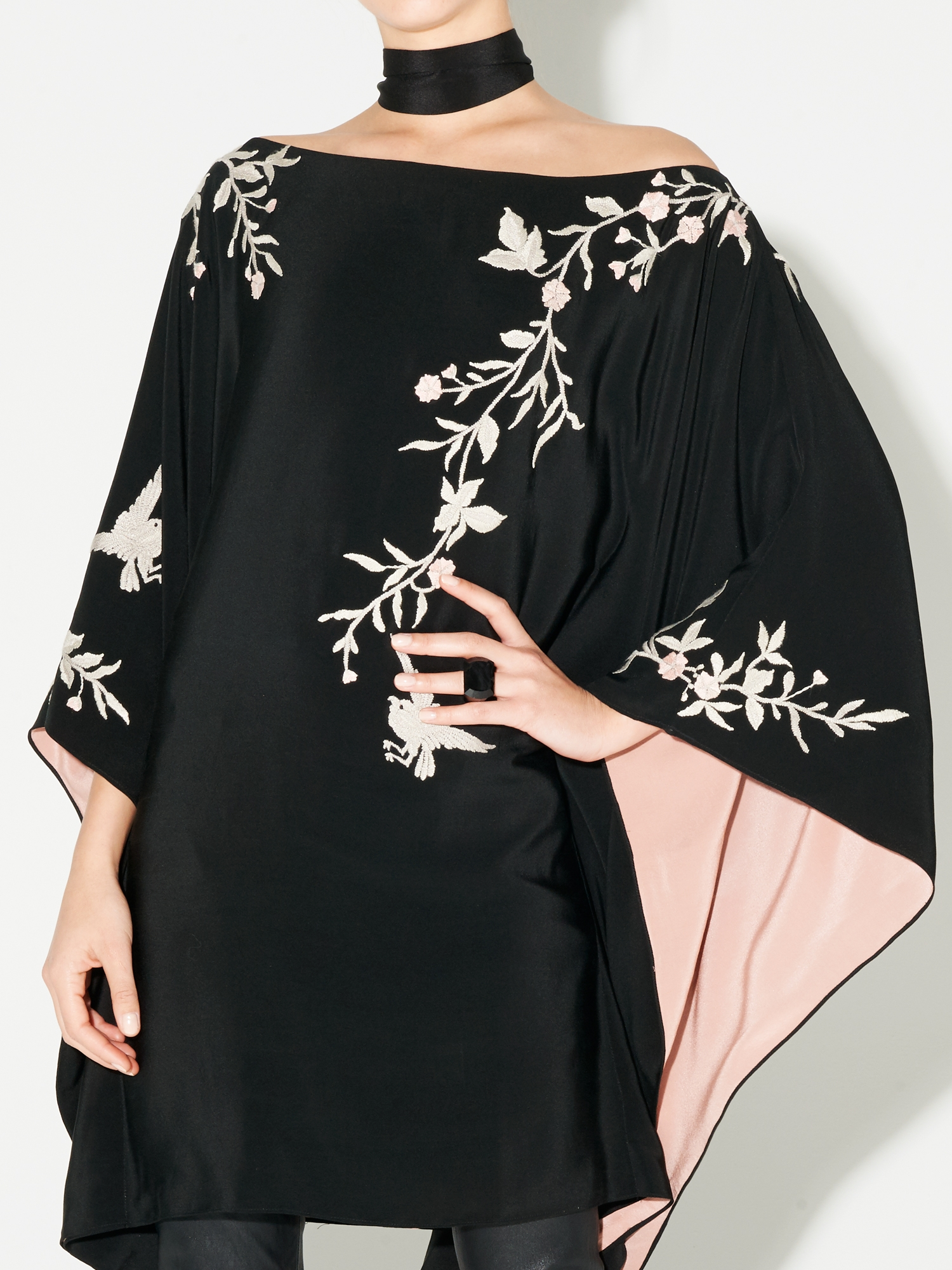 ROSE BIRD KIMONO DRESS