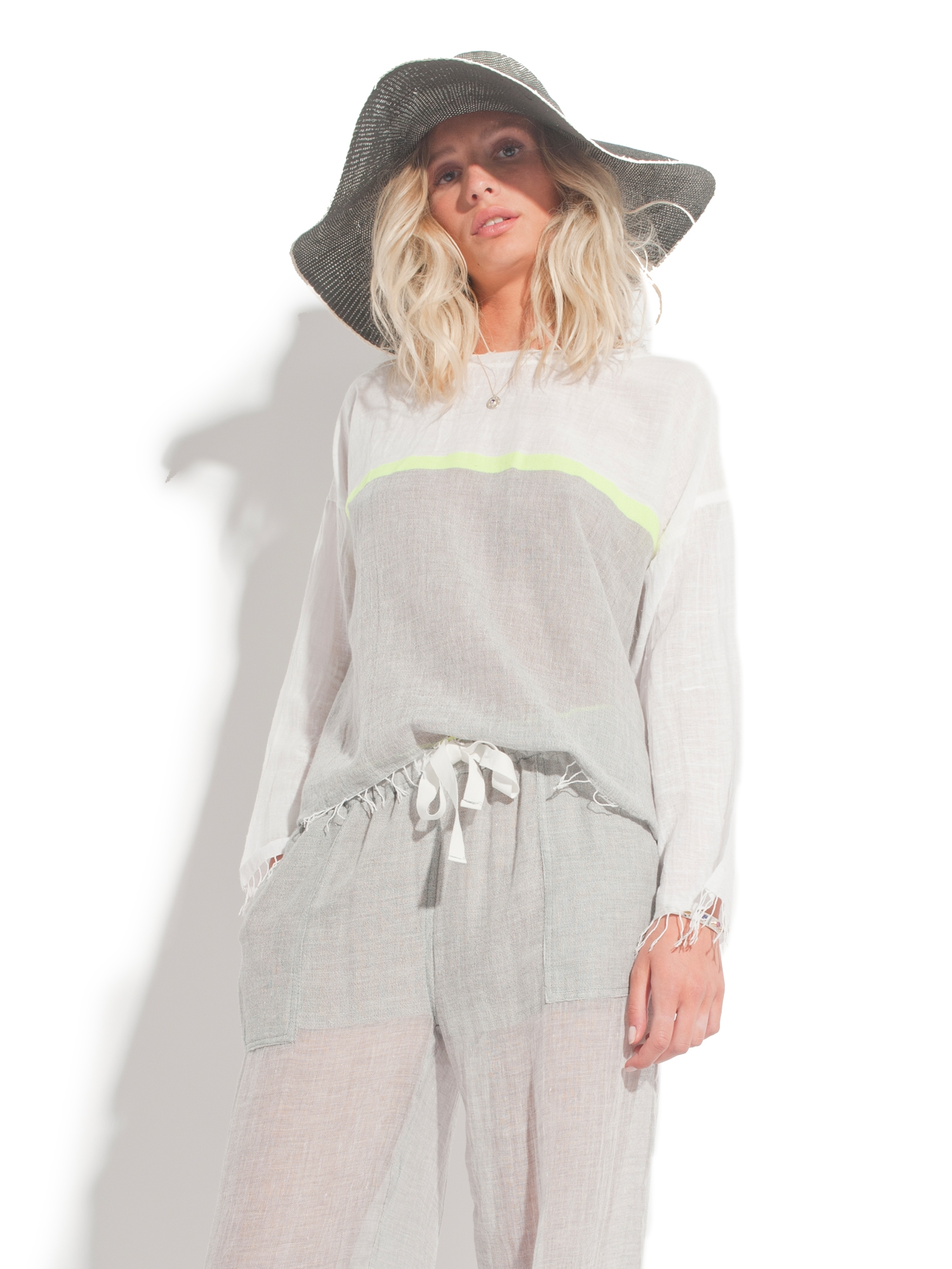 TEE SHIRT EVE FRINGED SMOCK