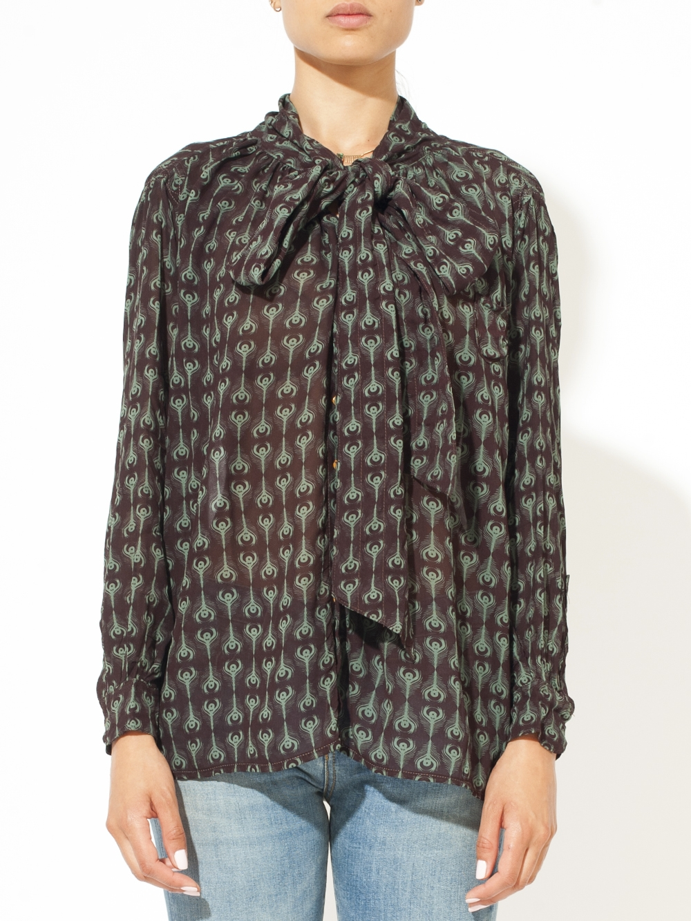 CARRY BOW BLOUSE