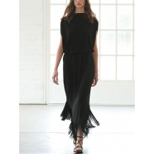 ROBE FRINGED COCOON