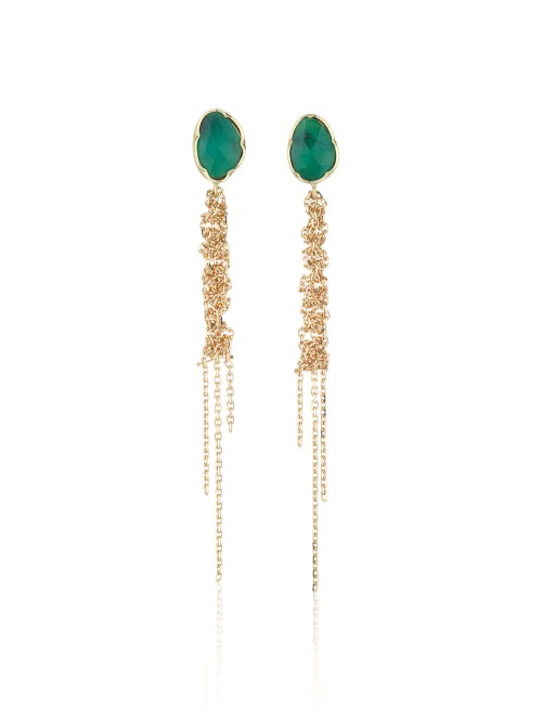BOUCLES D'OREILLES WATERFALL EMERAUDE