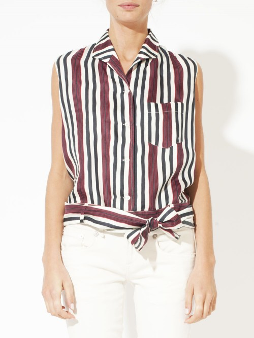 FOULARD TOP STRIPES