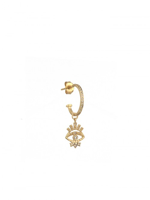 BOUCLE OEIL PROTECTION 14K