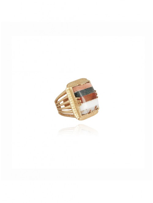 BAGUE ARTY CHEVALIERE OR