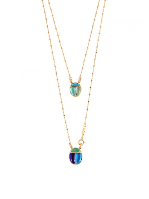 COLLIER SCAPULAIRE SCARABEO O