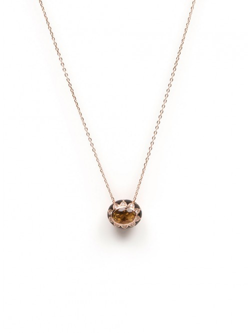 COLLIER 18K CITRINE & DIAM