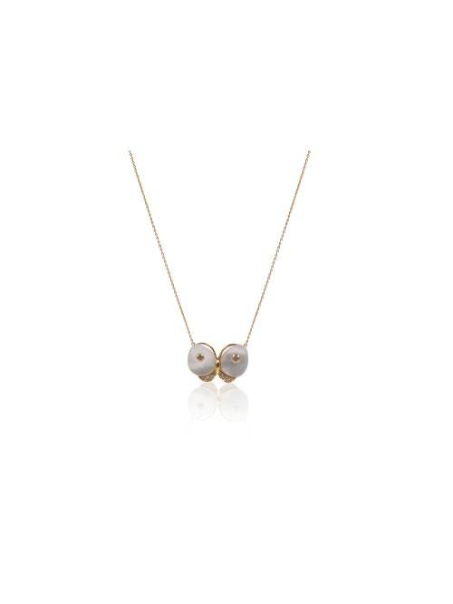 COLLIER PAPILLON NACRE