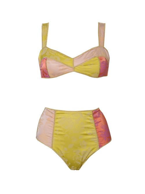 MAILLOT 2P BLOSSOM TAILLE HAUTE