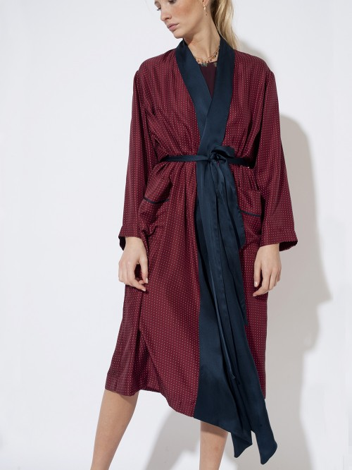 ROBE WRAP TRENCH