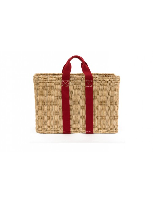 LARGE BASKET STRAW ROUGE