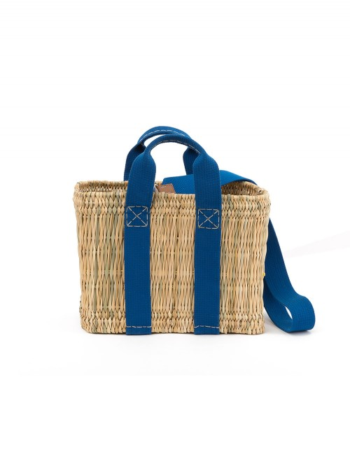 SAC NATURAL STRAW SMALL BASKET