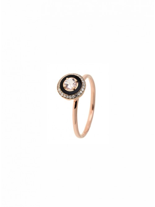BAGUE EMAIL&DIAM&MORGANITE
