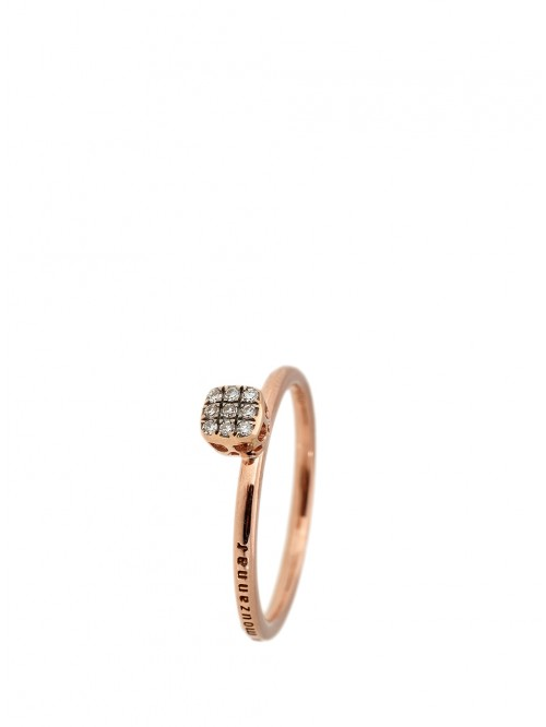 BAGUE OR ROSE DIAMANTS