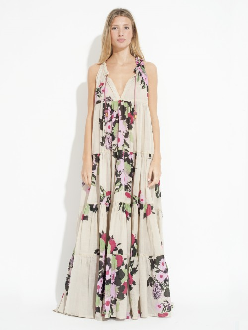 ROBE MAXI HIPPYDRESS SLEEVELESS