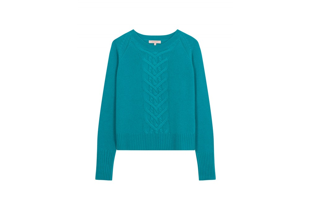 PULL CABLE CREW NECK