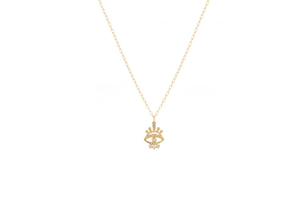 COLLIER PROTECTION OEIL 14K