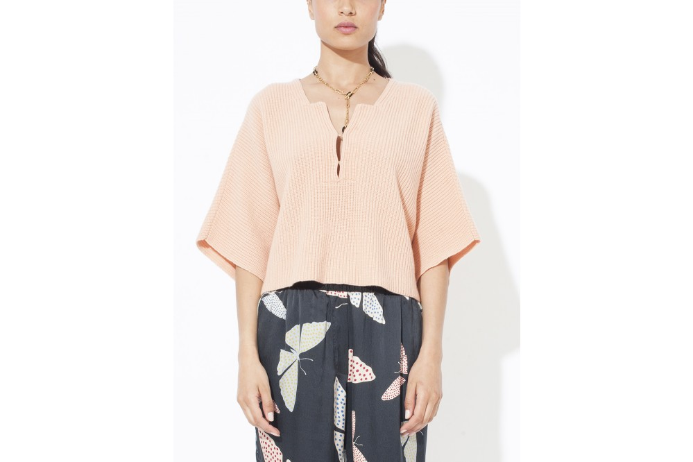 PULL A COTES PURE CACHEMIRE