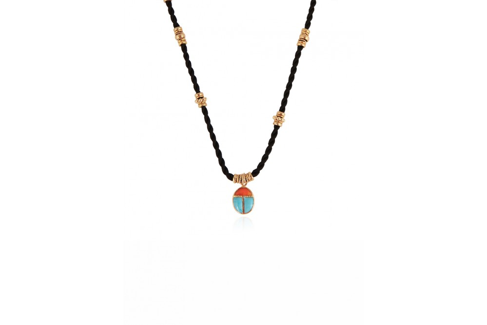 COLLIER SCARABEO OR