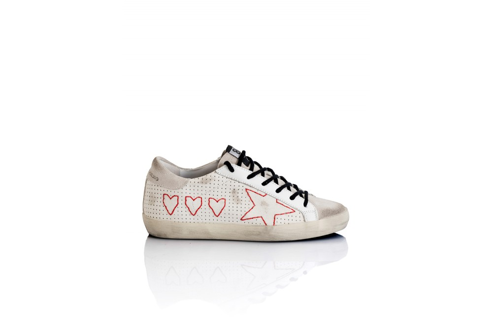 SNEAKERS SUPERSTAR 3 HEARTS
