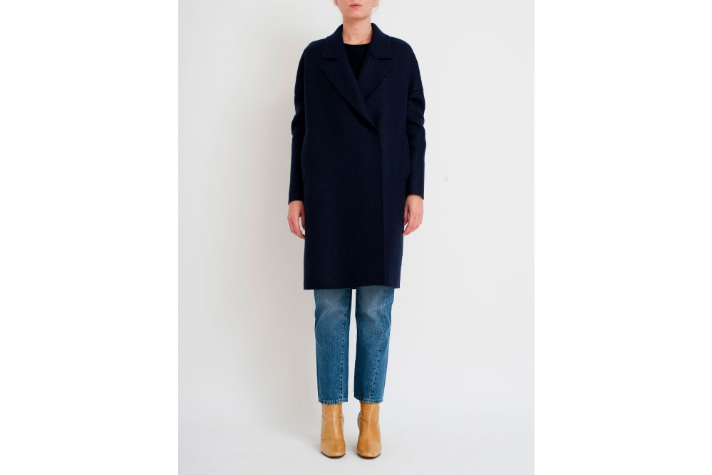 MANTEAU OVERSIZE PRESSED WOOL