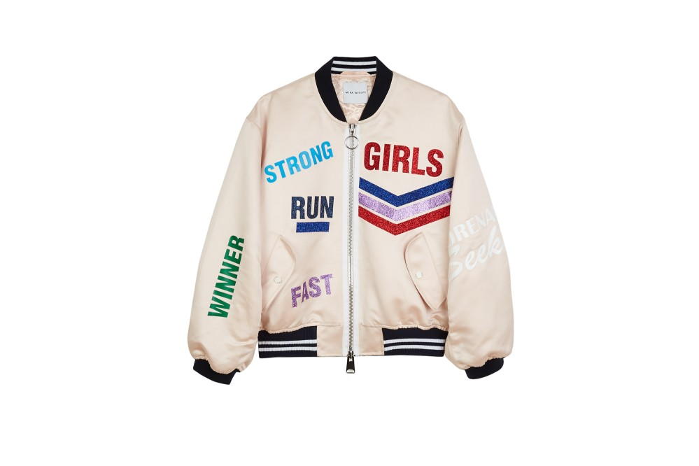 BOMBER VINYL RUN GIRL GLITTER