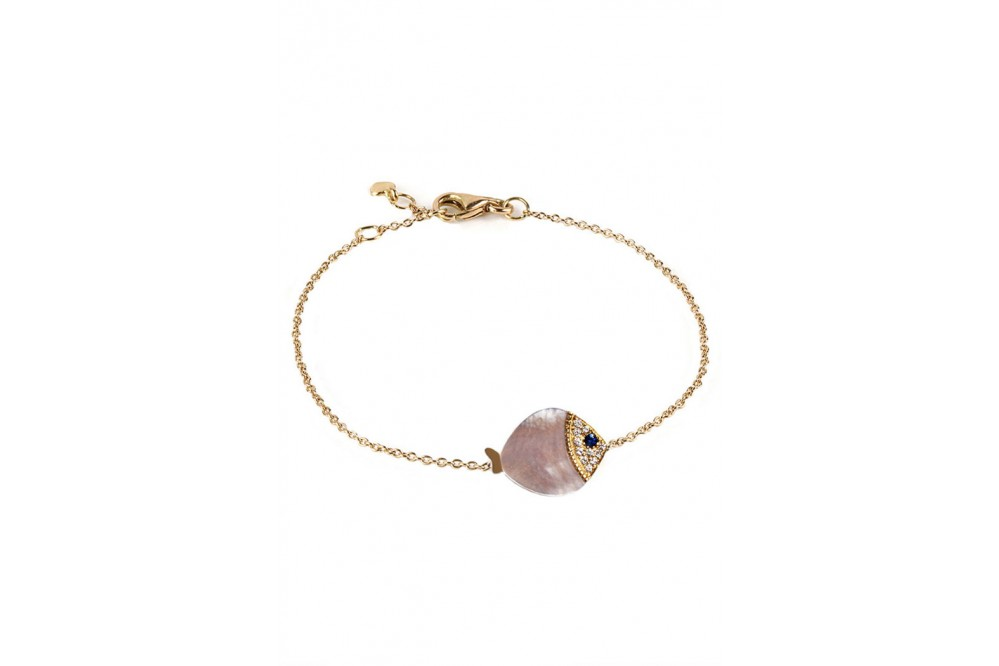 BRACELET LARGE POISSON NACRE