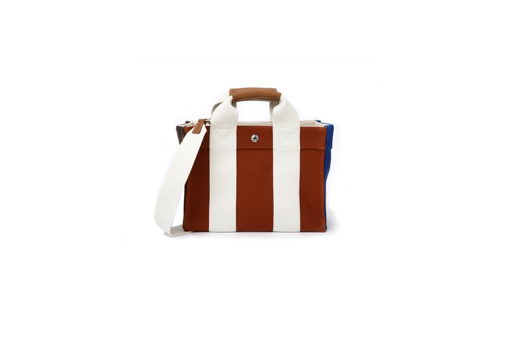 LADY TOTE-S3 COLOR BLOCK BRICK
